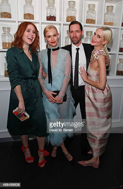 Angela Scanlon, Kate Bosworth, Michael Polish and Poppy Delevingne attend the British Fashion Awards official afterparty hosted by St Martins Lane...
