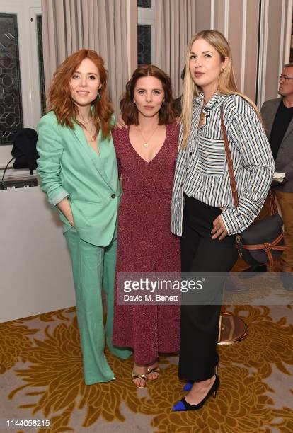 Angela Scanlon Ophelia Lovibond and Francesca Sieler attend the Belmond Cadogan Hotel Summer Salon and Grand Opening supported by London Perfumer...