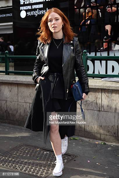 Angela Scanlon seen in Converse trainers at Ryan Lo AW16 Catwalk Show at BFC Show Space on February 19 2016 in London England