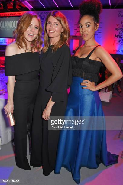 Angela Scanlon Sharon Horgan and Pearl Mackie attend the Glamour Women of The Year Awards 2017 in Berkeley Square Gardens on June 6 2017 in London...