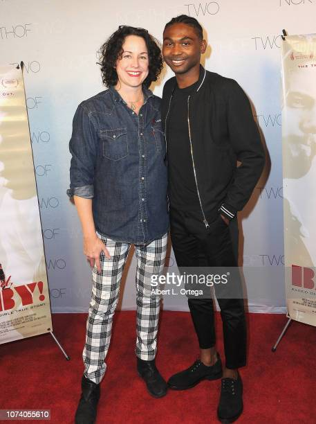 Angela Shelton and Frankie Smith arrive for the premiere of 'Heart Baby' held at The Ahrya Fine Arts Laemmle Theater on November 23 2018 in Beverly...