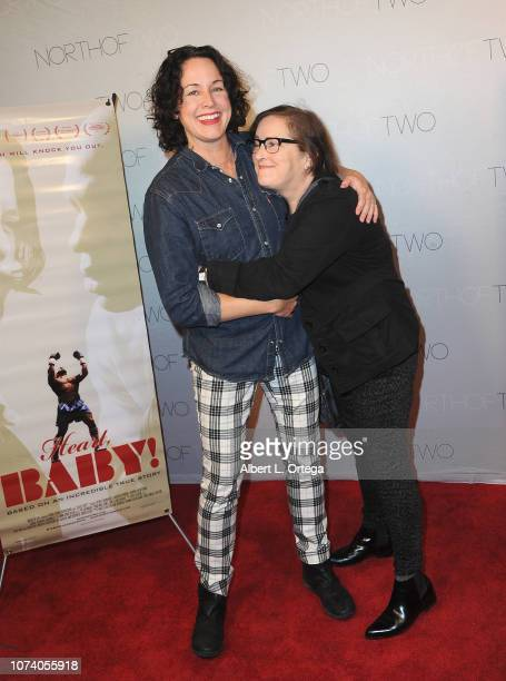 Angela Shelton and Jillian Armenate arrive for the premiere of 'Heart Baby' held at The Ahrya Fine Arts Laemmle Theater on November 23 2018 in...