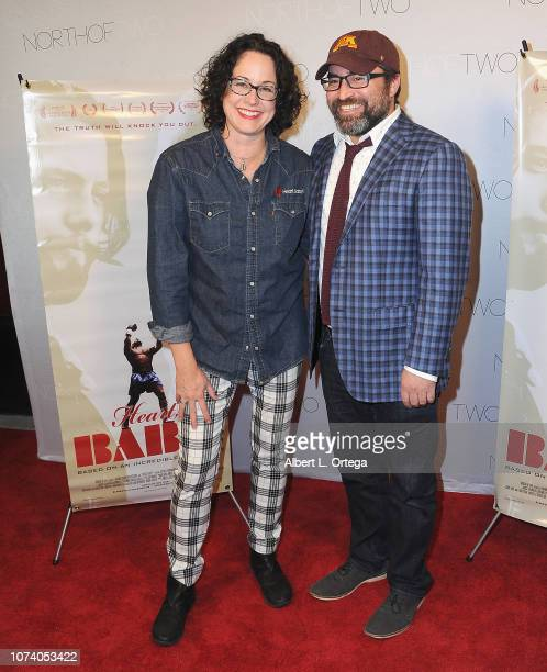Angela Sheton and guest arrive for the premiere of 'Heart Baby' held at The Ahrya Fine Arts Laemmle Theater on November 23 2018 in Beverly Hills...
