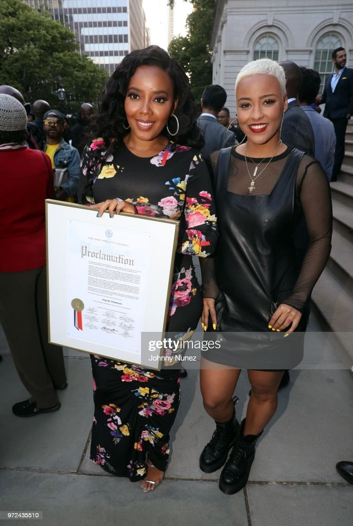 Angela Simmons (L) and Bobbi Storm attend the 3rd Annual Influence Awards at City Hall on June 11, 2018 in New York City.