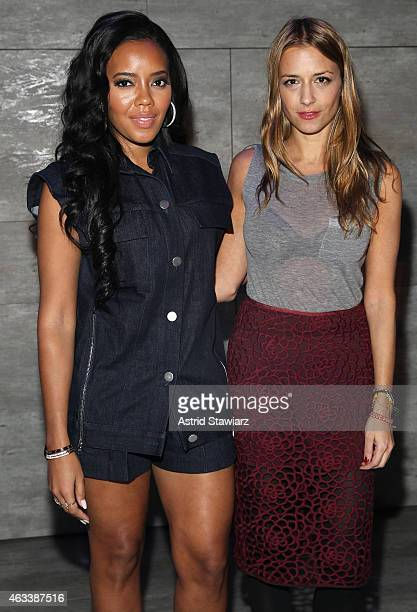 Angela Simmons and Charlotte Ronson attend the Charlotte Ronson fashion show during MercedesBenz Fashion Week Fall 2015 at The Pavilion at Lincoln...