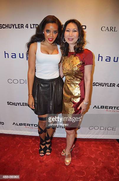 Angela Simmons and Hyela Makoujy attend the Draft Classic Schuyler Gifting Suite at a private residence on May 6 2014 in New York City