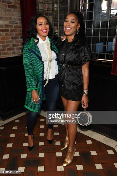 Angela Simmons and Keke Palmer wearing Chanel attend Through Her Lens The Tribeca CHANEL Women's Filmmaker Program Luncheon at Locanda Verde on...