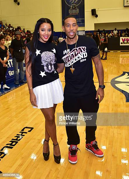 Angela Simmons and Ludacris attend the LUDA vs YMCMB celebrity basketball game at Georgia State University Sports Arena on August 31 2014 in Atlanta...