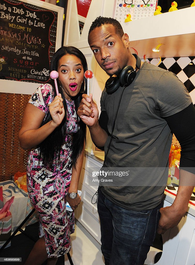 Angela Simmons And Marlon Wayans Attend Vanessa Simmons Baby Shower At  Sugar Factory Hollywood On January