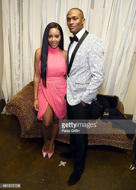 Angela Simmons and model Keith Carlos attend the Fashion Against HIV/AIDS Charity Show at Le Fais DoDo on January 10 2015 in Atlanta Georgia