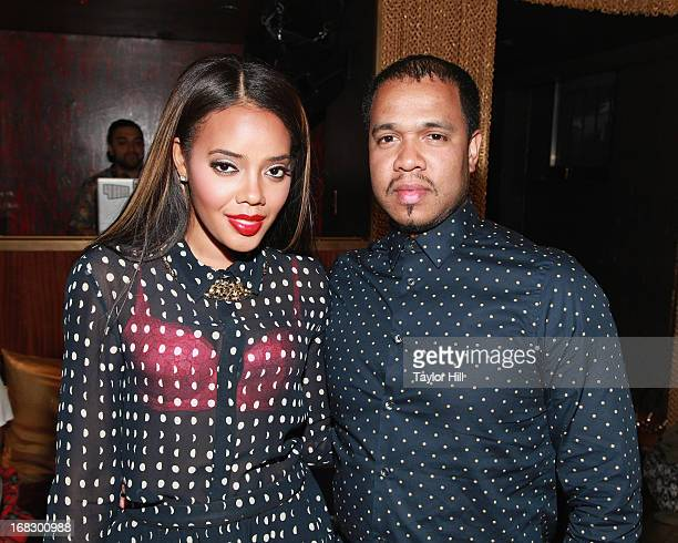 Angela Simmons and photographer Johnny Nunez attend the Skyy Infusions Moscato Launch Event at Gold Bar on May 7 2013 in New York City