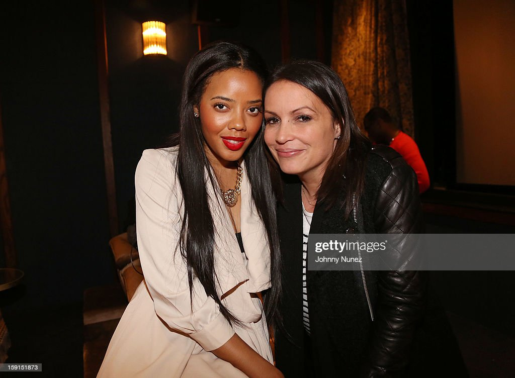 Angela Simmons and radio personality Angie Martinez attend the 'LUV' Tastemaker Screening at Soho House on January 8, 2013 in New York City.