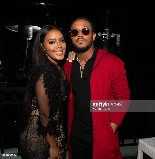 Angela Simmons and Romeo Miller attend the Premiere of WEtv's Growing Up Hip Hop Season 4 on May 22, 2018 in West Hollywood, California.