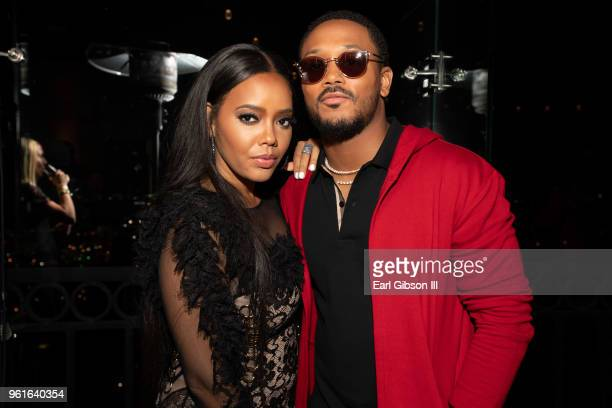 Angela Simmons and Romeo Miller attend the Premiere of WEtv's Growing Up Hip Hop Season 4 on May 22 2018 in West Hollywood California