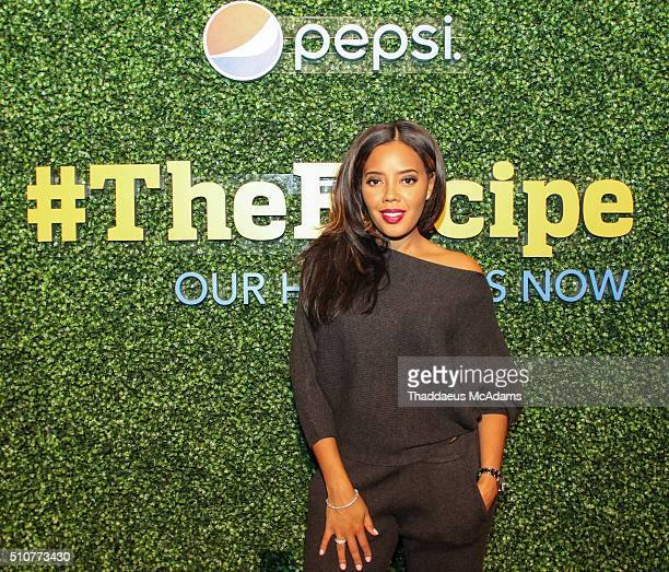 Angela Simmons at The Recipe Hosted By Angela Simmons And Mack Wilds>> at Garden Theater on February 16 2016 in Detroit Michigan