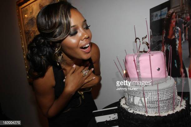 Angela Simmons attends Angela Simmons' 25th birthday celebration at the Martin Lawrence Gallery on September 14 2012 in New York City