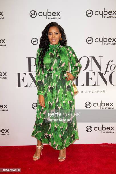 Angela Simmons Attends Cybex For Scuderia Ferrari Launch Party on October 12 2018 in Miami Florida