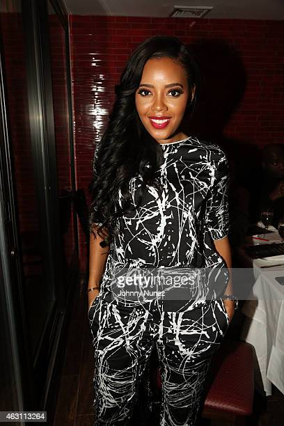 Angela Simmons attends Da Sweet Blood Of Jesus dinner reception at Red Stixs on February 9 in New York City