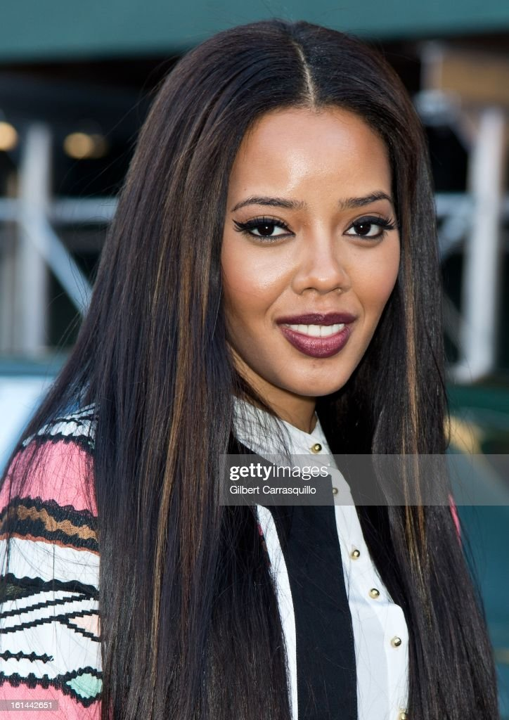 Angela Simmons attends Fall 2013 Mercedes-Benz Fashion Show at The Theater at Lincoln Center on February 10, 2013 in New York City.