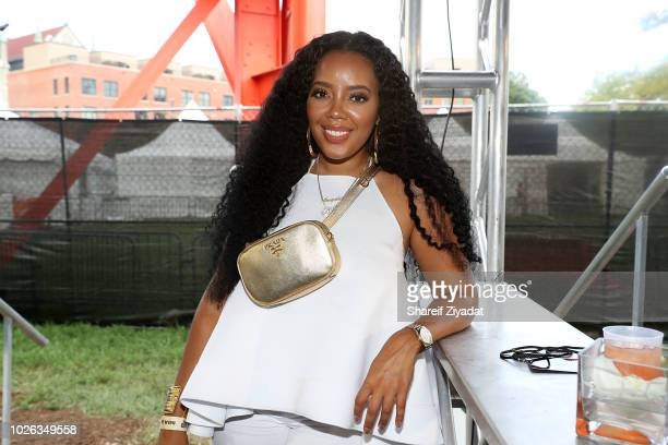 Angela Simmons attends Made In America Day 2 on September 1 2018 in Philadelphia Pennsylvania