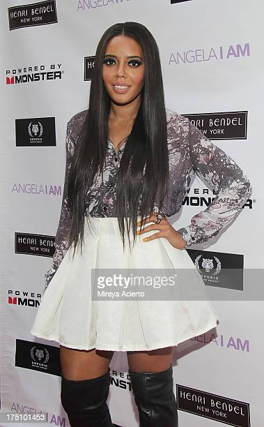 Angela Simmons attends the Angela I Am launch at Henri Bendel on July 31 2013 in New York City