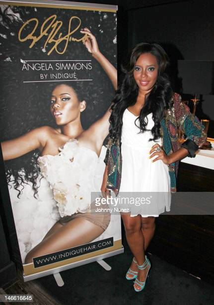 Angela Simmons attends the Angela Simmons By Indique Bikini Launch Party at The Parlor on June 20 2012 in New York City