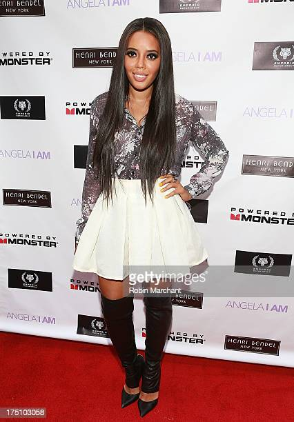 Angela Simmons attends the AngelaIAm launch event at Henri Bendel on July 31 2013 in New York City