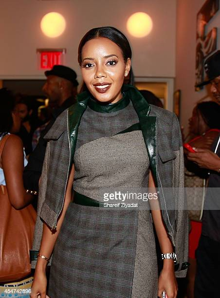 Angela Simmons attends the Argyleculture By Russell Simmons show at MercedesBenz Fashion Week Spring 2015 at Helen Mills Event Space on September 5...