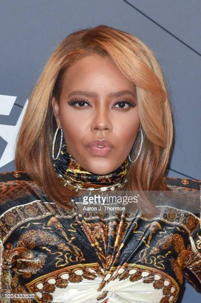 Angela Simmons attends the Black Girls Rock Red Carpet at the New Jersey Performing Arts Center on August 26 2018 in Newark New Jersey