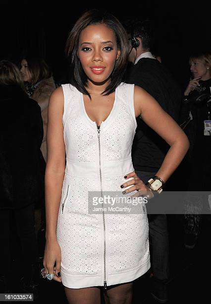 Angela Simmons attends the Charlotte Ronson Fall 2013 MercedesBenz Fashion Week Presentation at the Box at Lincoln Center on February 8 2013 in New...