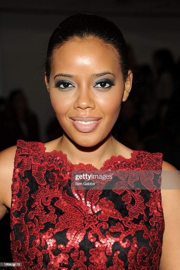 Angela Simmons attends the Costello Tagliapietra fall 2013 fashion show during MADE fashion week at Milk Studios on February 7, 2013 in New York City.