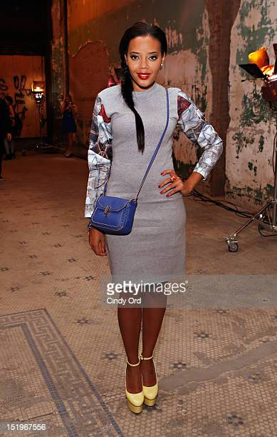 Angela Simmons attends the Cynthia Rowley spring 2013 fashion show during MercedesBenz Fashion Week at 5 Beekman on September 13 2012 in New York City