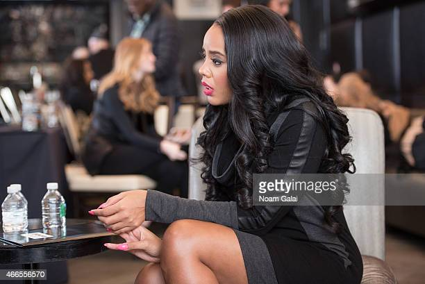Angela Simmons attends the launch event for FOOFI By Angela Simmons at Gansevoort Hotel on March 16 2015 in New York City