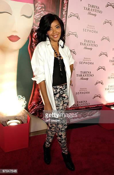Angela Simmons attends the launch of Tarina Tarantino's new cosmetics line Tarina Tarantino Beauty on February 24 2010 in Hollywood California