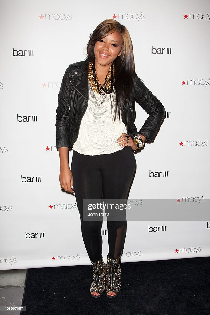 Angela Simmons attends the launch party for Macy's Bar III Pop-Up Shop at 156 Fifth Ave on February 9, 2011 in New York City.