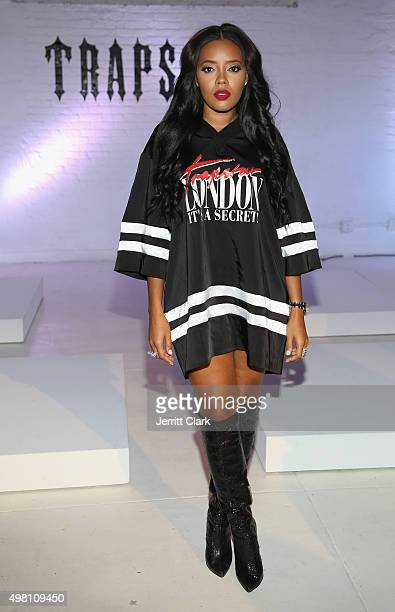 Angela Simmons attends the Trapstar London Invasion For Peace US Launch at 201 Mulberry Street on November 20 2015 in New York City