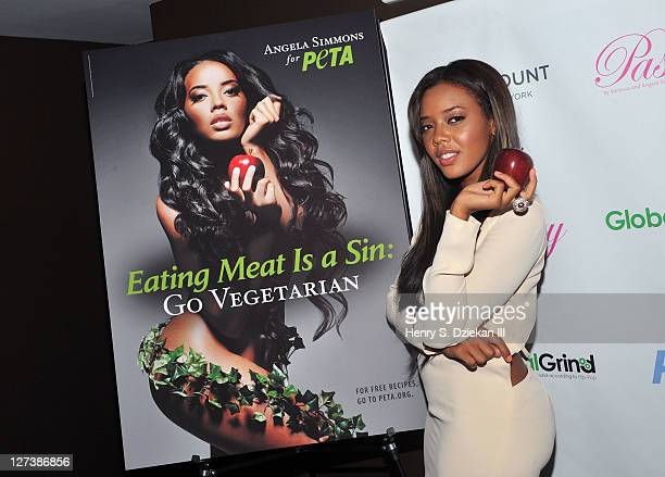 Angela Simmons attends the unveiling of Angela Simmons' PETA campaign at the Paramount Hotel on September 27 2011 in New York City