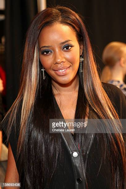 Angela Simmons backstage at the Charlotte Ronson Fall 2012 fashion show during MercedesBenz Fashion Week at The Stage at Lincoln Center on February...