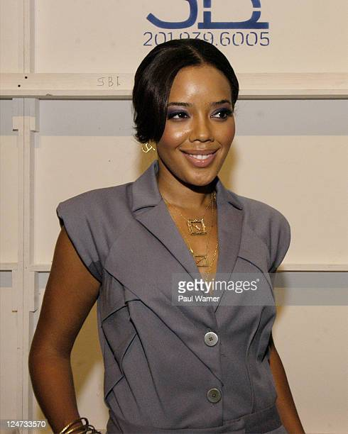 Angela Simmons backstage at the Nicole Miller Spring 2012 fashion show during MercedesBenz Fashion Week at The Studio at Lincoln Center on September...