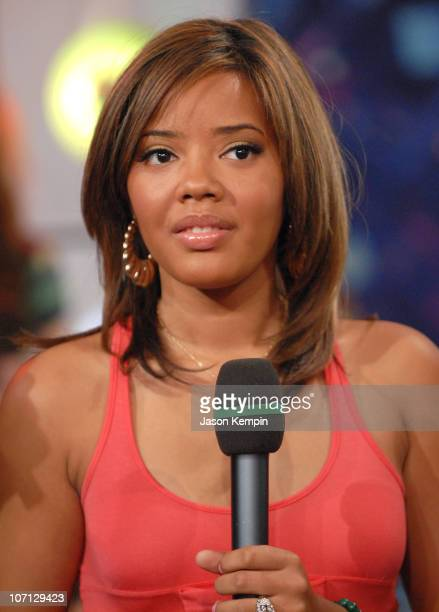 Angela Simmons during Cast Of 'Run's House' Pete Wentz And The Academy Is Visit MTV's 'TRL' April 30 2007 at MTV Studios in New York New York United...