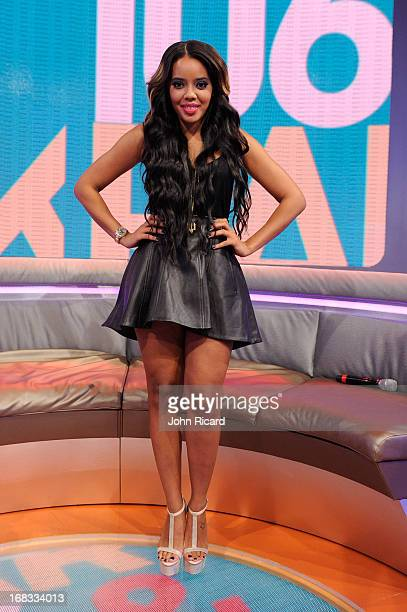 Angela Simmons guest hosts BET's 106 Park at BET Studios on May 8 2013 in New York City