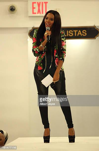 Angela Simmons is seen before the ModaListas fall/winter 2013 fashion show at Limelight Marketplace on September 7 2012 in New York City