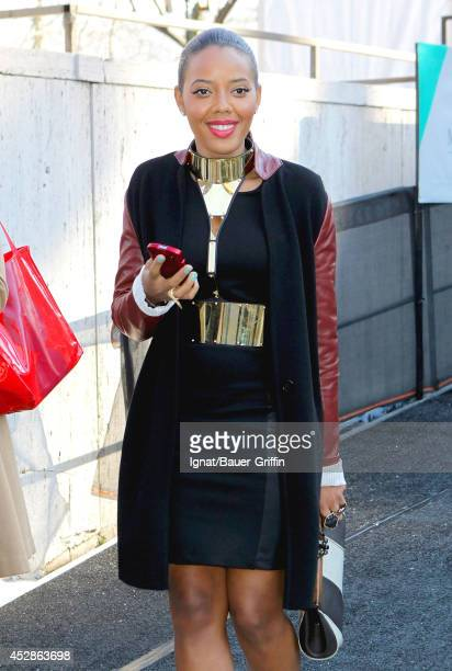 Angela Simmons is seen on February 09 2012 in New York City