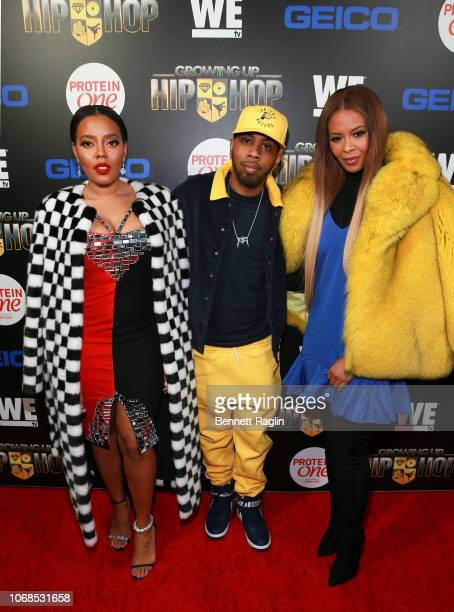 """Angela Simmons, Jojo Simmons, and Vanessa Simmons attend the """"Growing Up Hip Hop"""" season 4 party on December 4, 2018 in New York City."""