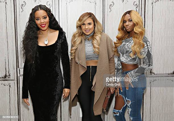"""Angela Simmons, Kristinia DeBarge and Egypt Criss take part in AOL BUILD Series: """"Growing Up Hip Hop"""" at AOL Studios on January 7, 2016 in New York..."""