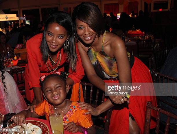 Angela Simmons Miley Simmons and Vanessa Simmons attend the 12th annual Art for Life benefit at a Private Residence on July 30 2011 in East Hampton...