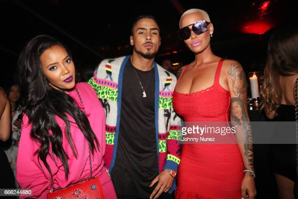 Angela Simmons Quincy Brown and Amber Rose attend Belly's Birthday Bash at Private Residence on April 7 2017 in Los Angeles California