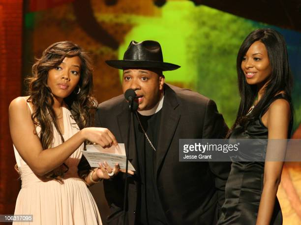 Angela Simmons Reverend Run and Angela Simmons presenters