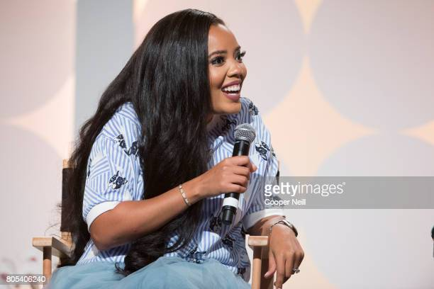 Angela Simmons speaks at the Hollywood's Millennials International Faith Family Film Festival Rising Stars panel during MegaFest at Omni Hotel on...