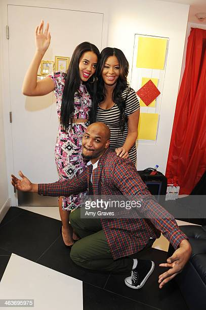 Angela Simmons Vanessa Simmons and Mike Wayans attend Vanessa Simmons Baby Shower at Sugar Factory Hollywood on January 18 2014 in Los Angeles...
